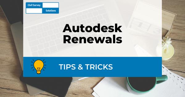 Autodesk Renewal Tips
