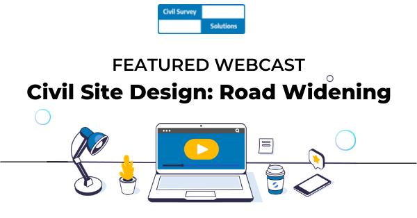 Civil Site Design Road Widening Webcast